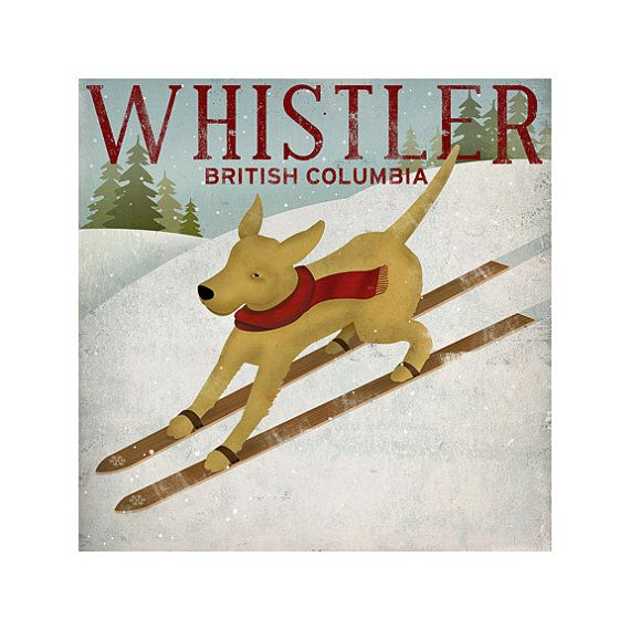 YELLOW DOG Ski Company Labrador Retriever Graphic by nativevermont