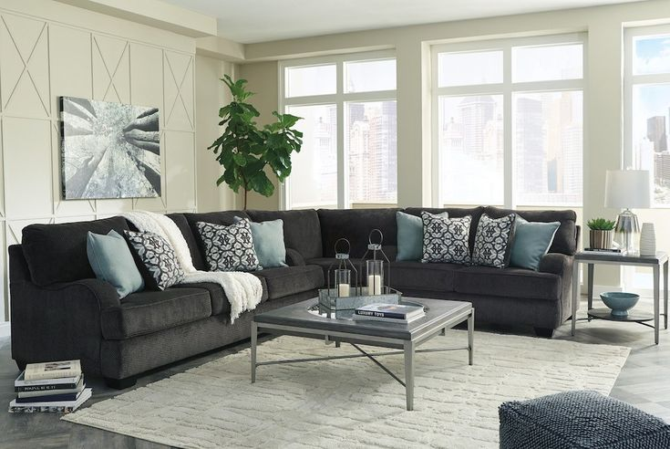 Best Charenton 3 Piece Sectional Charcoal Living Rooms 400 x 300