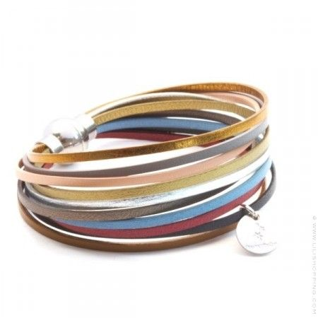 Bracelet en cuir multiliens Spitalfields - Lili Shopping