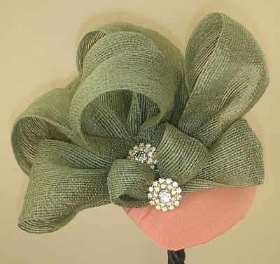 How to make a fascinator and other hat ideas.