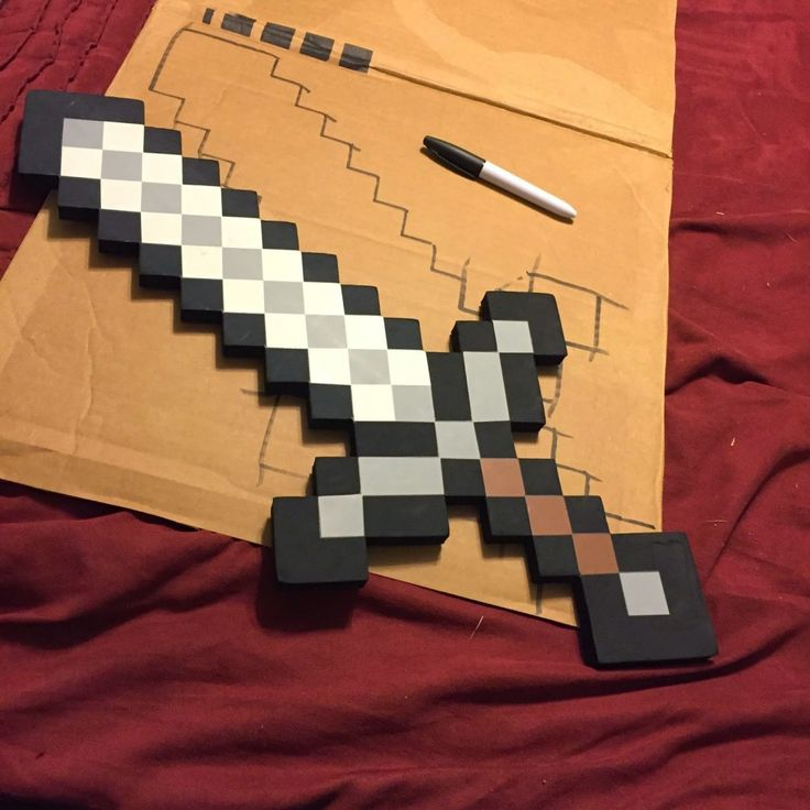 Make these DiY Minecraft Swords for your Minecraft fan. Make them for a room decoration, for a Minecraft birthday party, or just a fun craft!