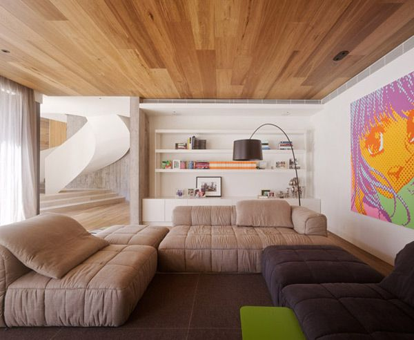 Want To Really Spice Things Up In Your Living Room Put Laminate On The Ceiling Check Out Our