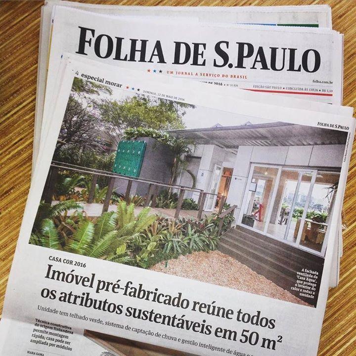 Olha só!!!  Saiu hoje uma matéria da Casa Aqua na Folha de São Paulo   #casaaqua #casacor #sustentabilidade #folhadesãopaulo #midiaimpressa #casasustentavel by casaaqua http://ift.tt/1XLlqzx