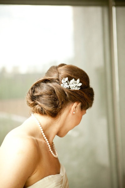 Wedding Hair with accessory