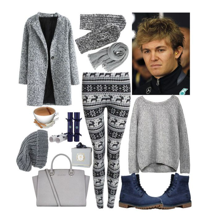 December date with Nico Rosberg by slytheriner on Polyvore featuring Pilot, Timberland, MICHAEL Michael Kors, Calypso St. Barth, Phase 3, Annick Goutal, Celebration Crackers and Nico