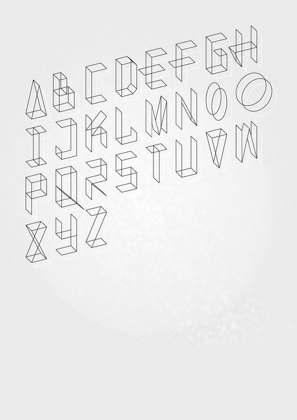 Eighth Halo typography by Paul Giles, via Behance (www.behance.net/...)