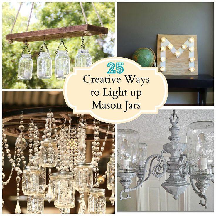 Creative Ways to Light up Mason Jars