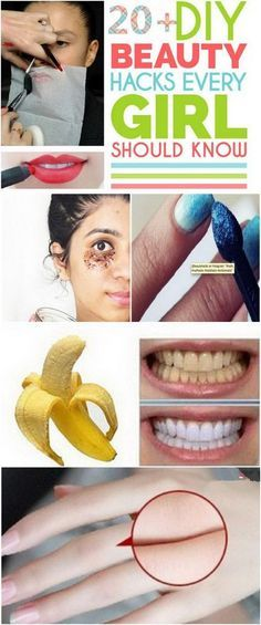 20+ DIY Beauty Hacks Every Girl Should Know. Every girl needs some tricks and tips to help her look her best and stay beautiful and attractive. Here we are sharing with you a fantastic roundup of 20+ Great DIY beauty hacks to get you looking and feeling fantastic! From tips and tricks on how to get rid of wrinkles in minutes, to homemade natural remedies to get rid of white hair forever, this list is a compilation of most creative and life-saving beauty hacks every woman needs to knowa and…