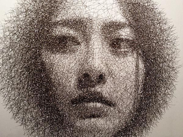 Wire Mesh Portraits by Seung Mo Park.  Incredible.