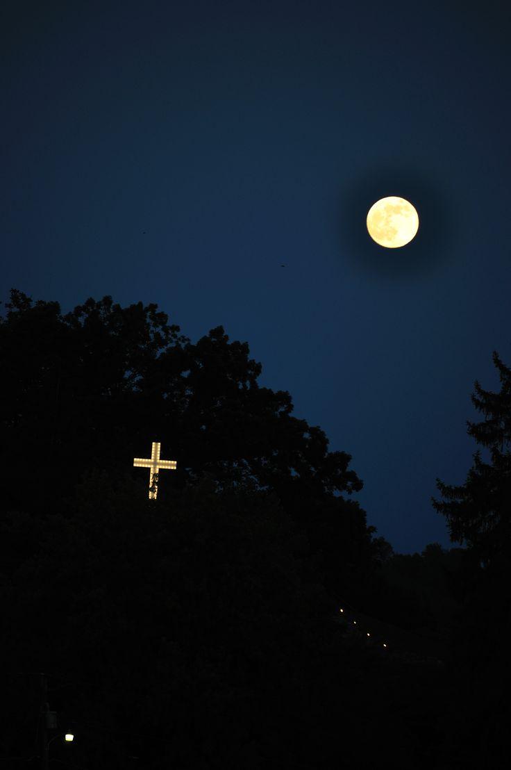 Super moon 2013 at Lake Junaluska, courtesy of Rev. Jim Matthews.