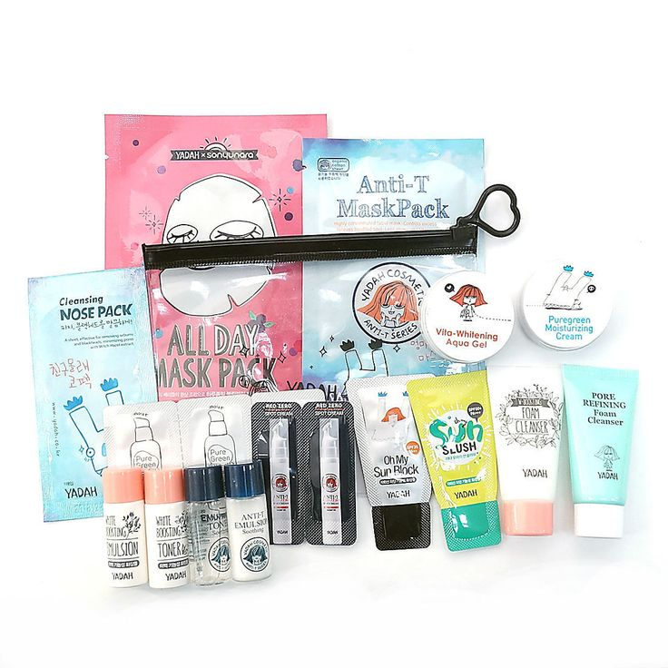 [YADAH] Sample Kit C Type #Set Pore Care Whitening With 2 Mask Packs