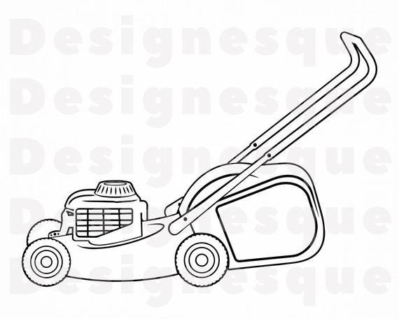 Lawn Mower Outline 4 Svg Lawn Mower Svg Landscaping Svg Etsy Lawn Mower Lawn Mower Storage Mower