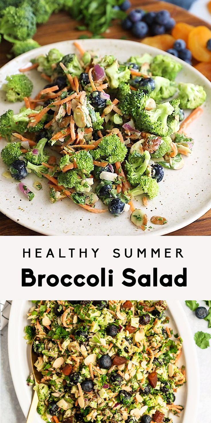Gesunder Sommerbrokkolisalat – Partysnacks und Essen – #food #healthy #party …   – Salat