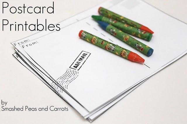 Make Your Own Postcards {Free Printable} #DIY #stationary #postcard