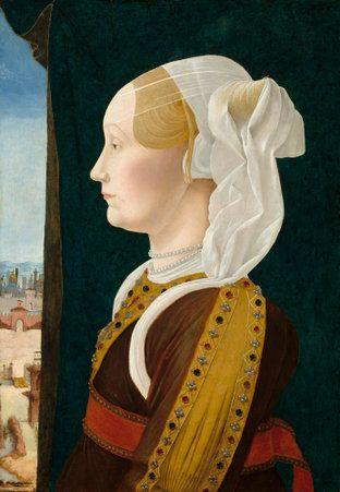 Ginevra Bentivoglio by Ercole de' Roberti http://inpress.lib.uiowa.edu/feminae/DetailsPage.aspx?Feminae_ID=31522