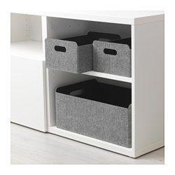 IKEA - BESTÅ, Boîte, Vous permet d'organiser le rangement dans votre combinaison BESTÅ. Idéal pour des magazines ou des télécommandes, des DVD ou des jouets, ou encore des fournitures pour vos loisirs.Peut être déplacé et soulevé facilement grâce aux poignées découpées sur les côtés.Le feutrine protège vos objets et les maintient bien en place quand vous déplacez la boîte.