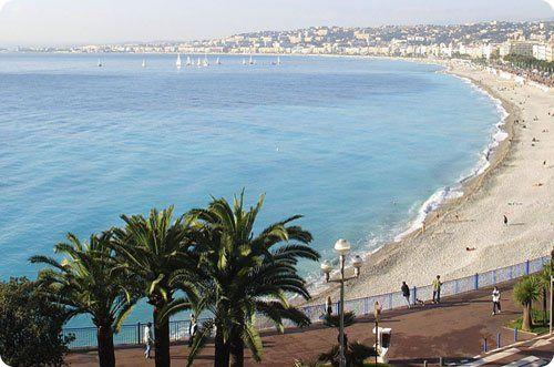 La plage Publique de Beau Rivage à Nice (Alpes-Maritimes)