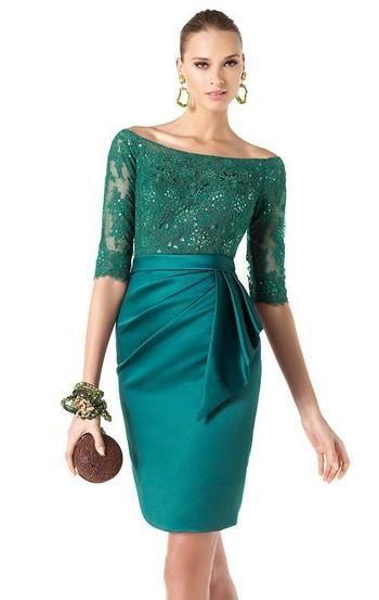 Платье футляр с кружевным верхом