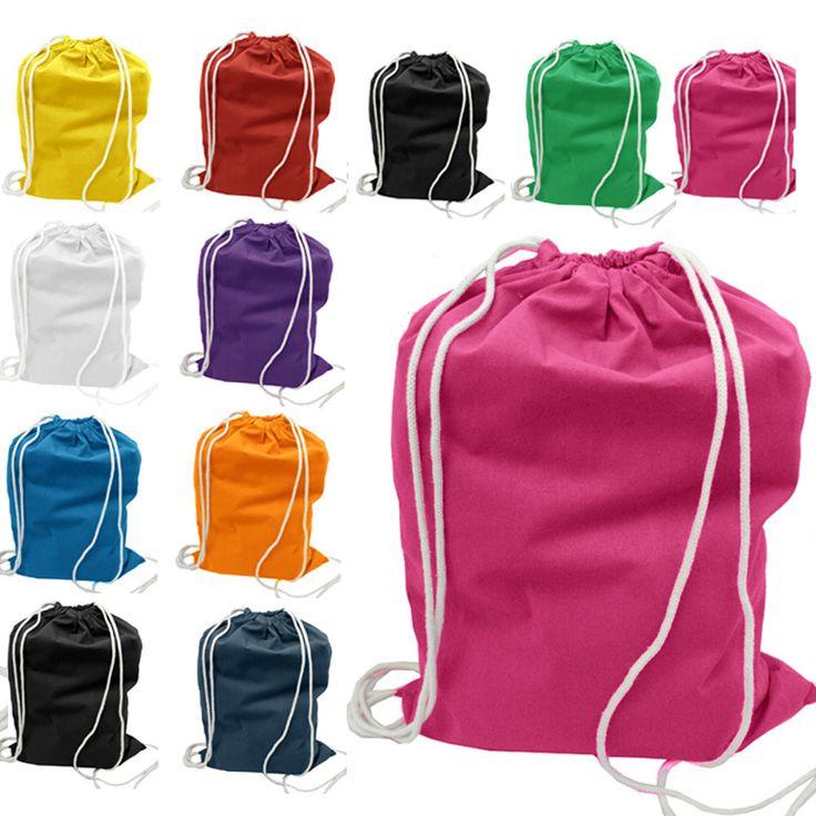 Economical Sport Cotton Drawstring Bag Cinch Packs BPK388
