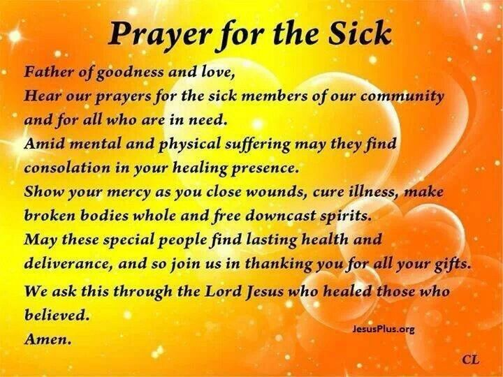 Prayer for the sick Quotes Pinterest Prayer for, For