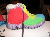 Oude schoen verven