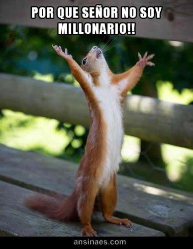Por qué Señor no soy Millonario!!