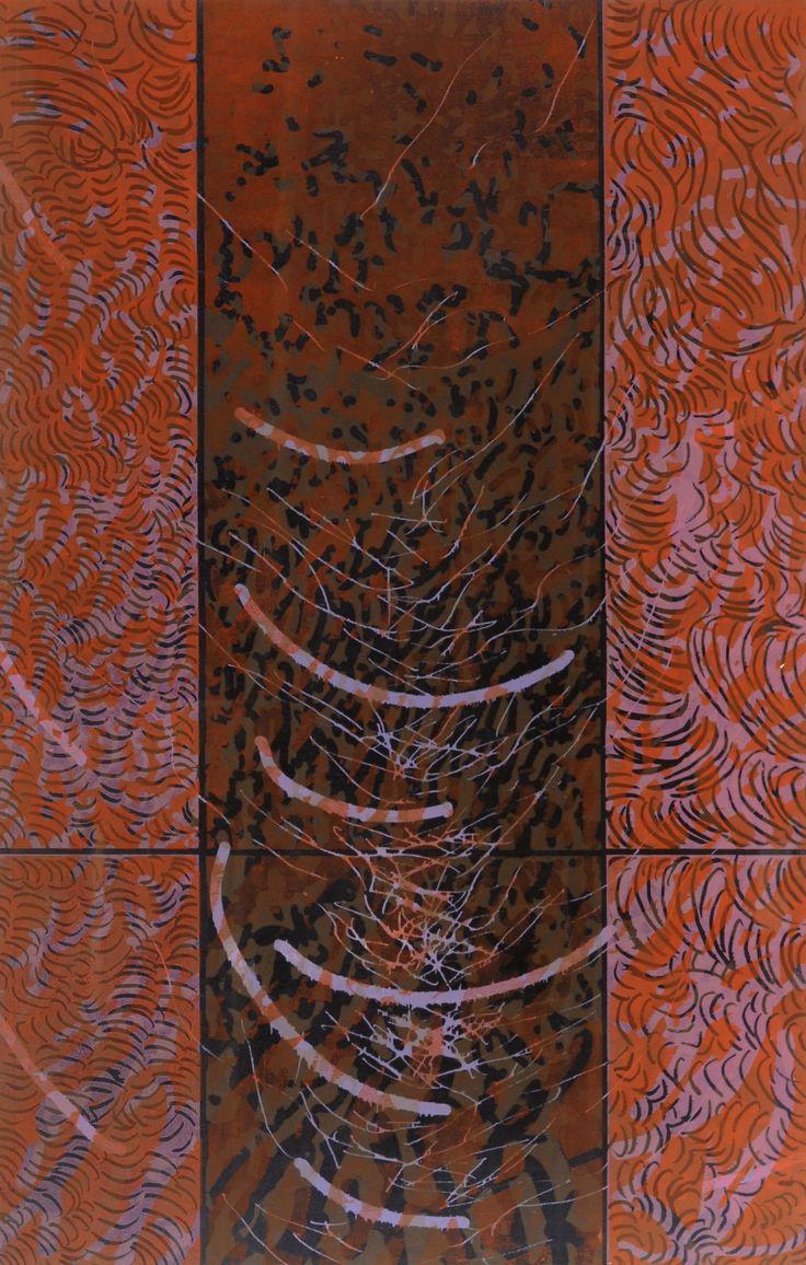 René Derouin, ESPACE ET DENSITÉ VII, 1993. Gravure sur bois. 115 x 70 cm. 20/30. Don de Jacques-Gabriel Blais. Valeur marchande : 4500 $. Prix de départ : 1500 $. Plus de détails : http://www.museelaurentides.ca/encan-2016-rene-derouin/