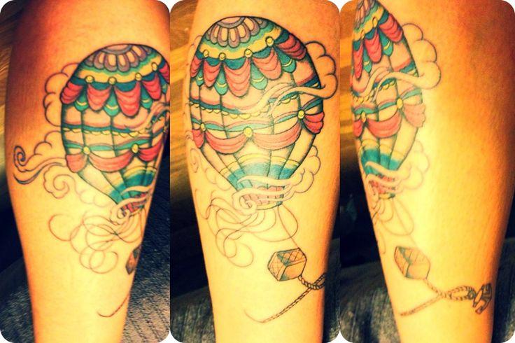 Hot-air balloon tattoo