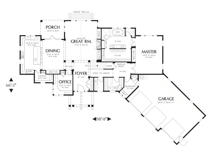 First Floor Plan image of Featured House Plan: BHG - 5902
