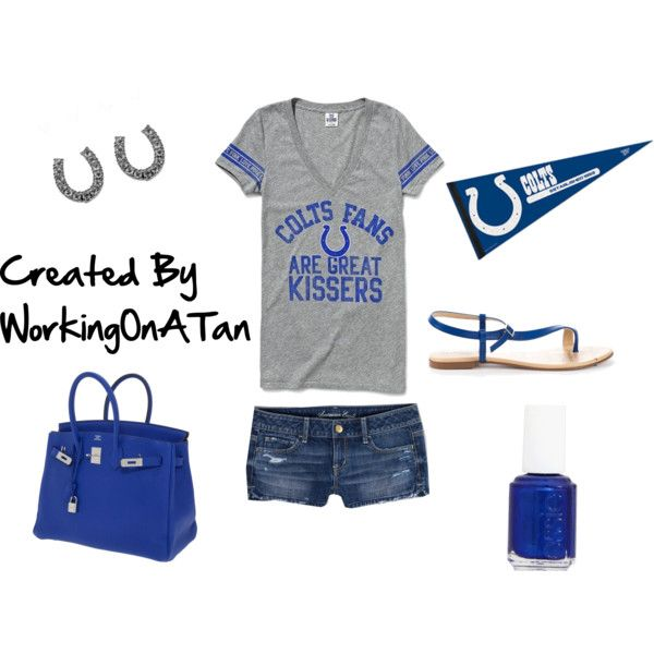 Kiss Me I'm A Colts Fan, created by workingonatan #Colts #NFL #Football #IndianapolisColts #Polyvore #Clothes #Outfits