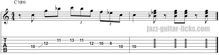 Kenny burrell jazz guitar lick kenny burrell