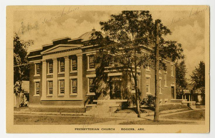 Presbyterian Church in Rogers,  Arkansas in 1923,  Arkansas State Archives G2970