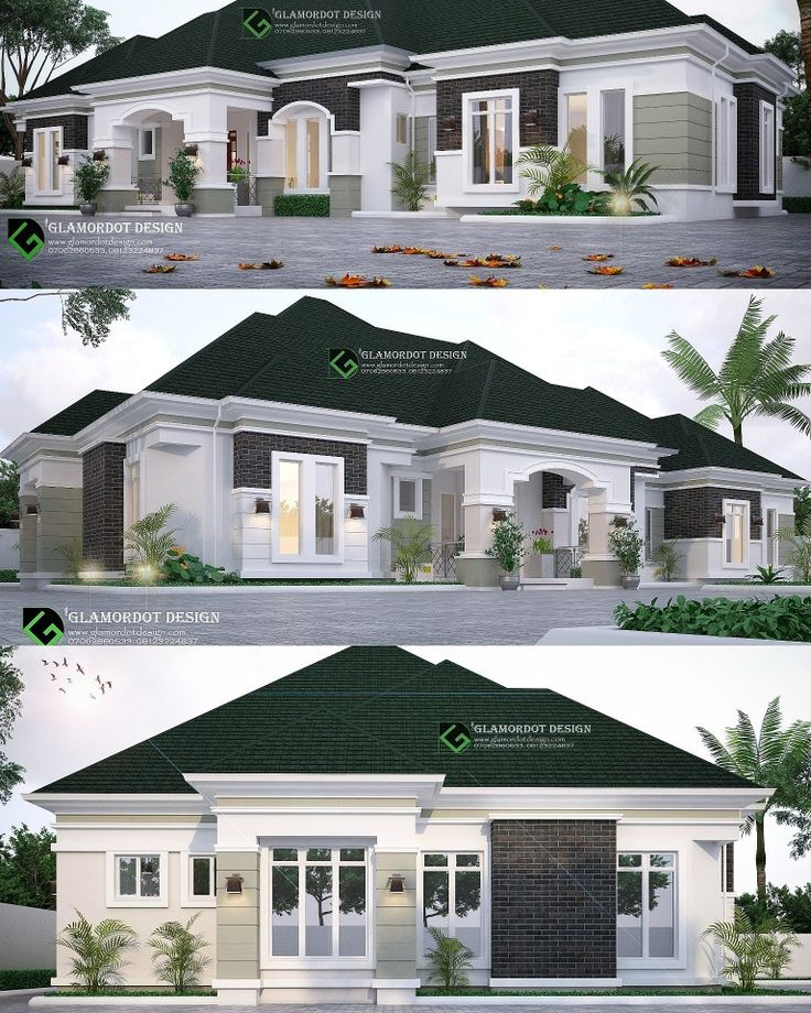 Top Modern Bungalow Design: Proposed 4 Bedroom Bungalow Design. Delta State, Nigeria