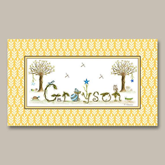 310 best Nursery Decor Name Signs images on Pinterest   Name signs ...