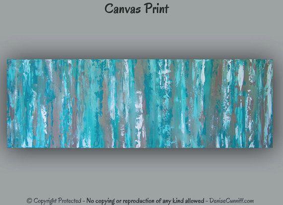 Office Decor, Large Aqua Teal Abstract Art Print, Teal Wall Art,  Contemporary Teal Home Decor Turquoise Wall Decor Turquoise U0026 Brown Artwork Part 64