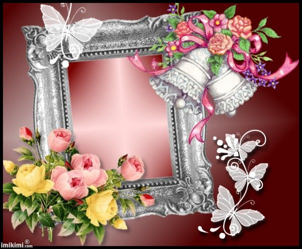 Wedding Photo frame. Click to add a photo and save.
