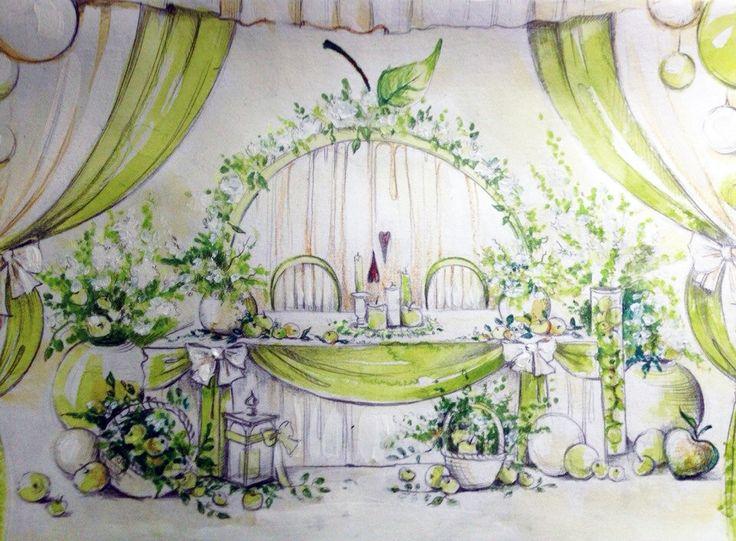 яблочная свадьба декор - Поиск в Google