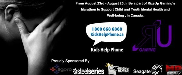 Rize Up Gaming Child's Help Phone Fundraiser