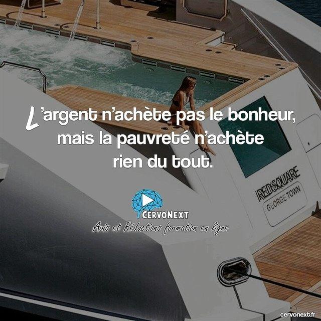 L'argent n'achète pas le bonheur mais la pauvreté n'achète rien du tout. - http://cervonext.fr/ - Follow : @cervonext