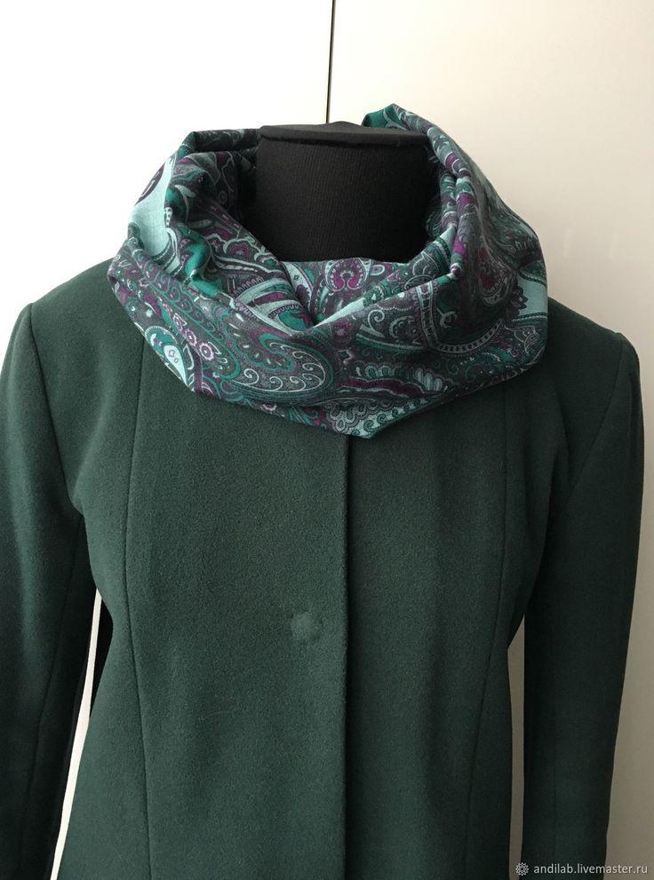 Купить Шарф-снуд из шерстяной ткани в интернет магазине на Ярмарке Мастеров