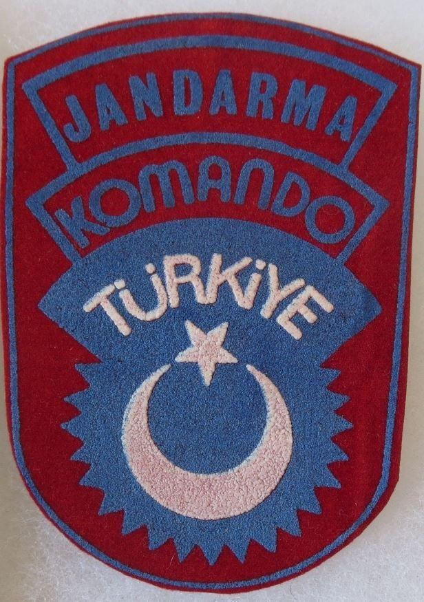 TURKEY ARMY COMMANDO JANDARMA KOMANDO PATCH INSIGNIA ORIGINAL COLD WAR Vintage