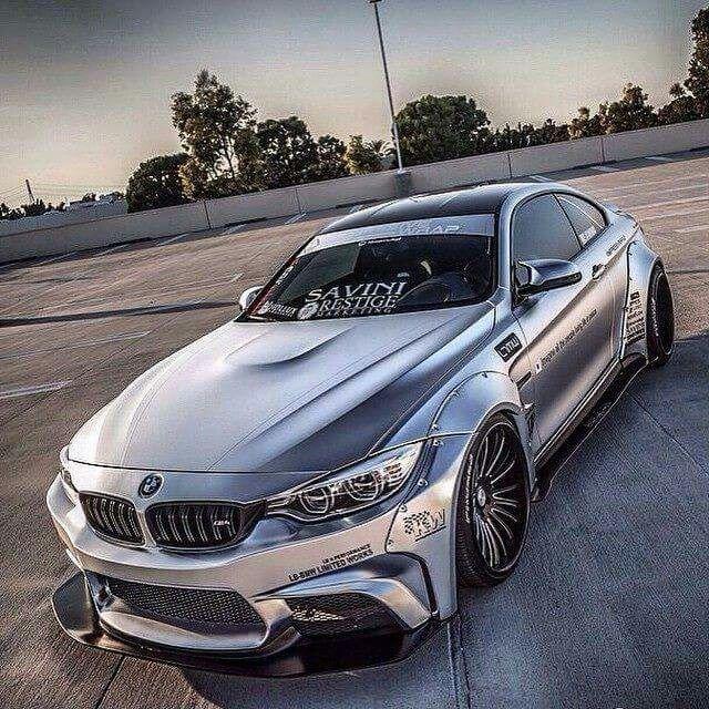 BMW F82 M4 silver widebody #bmw #cars #tyres