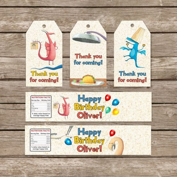 Dragon Love Tacos Printable Digital Water Bottle Labels - 2 designs and Party Favor Tag Kit includes 3 unique favor tags. All text can be customized. This listing is for the creation and delivery of a DIGITAL FILE for you to print yourself. NO PHYSICAL PRODUCT WILL BE SHIPPED. The bottle label measure 8.5X2 inch. You can use it for 16.9oz or 12oz bottles. There will be 3 labels in 1 page. The page size is 8.5 X 11 inches. And 6 Favor Tags on 1 page digital file. Thanks for visiting