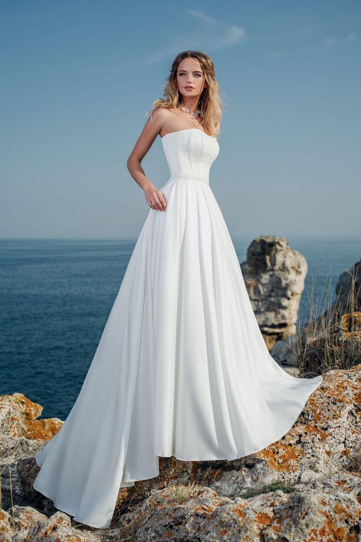 Jednoduché prekrásne svadobné šaty