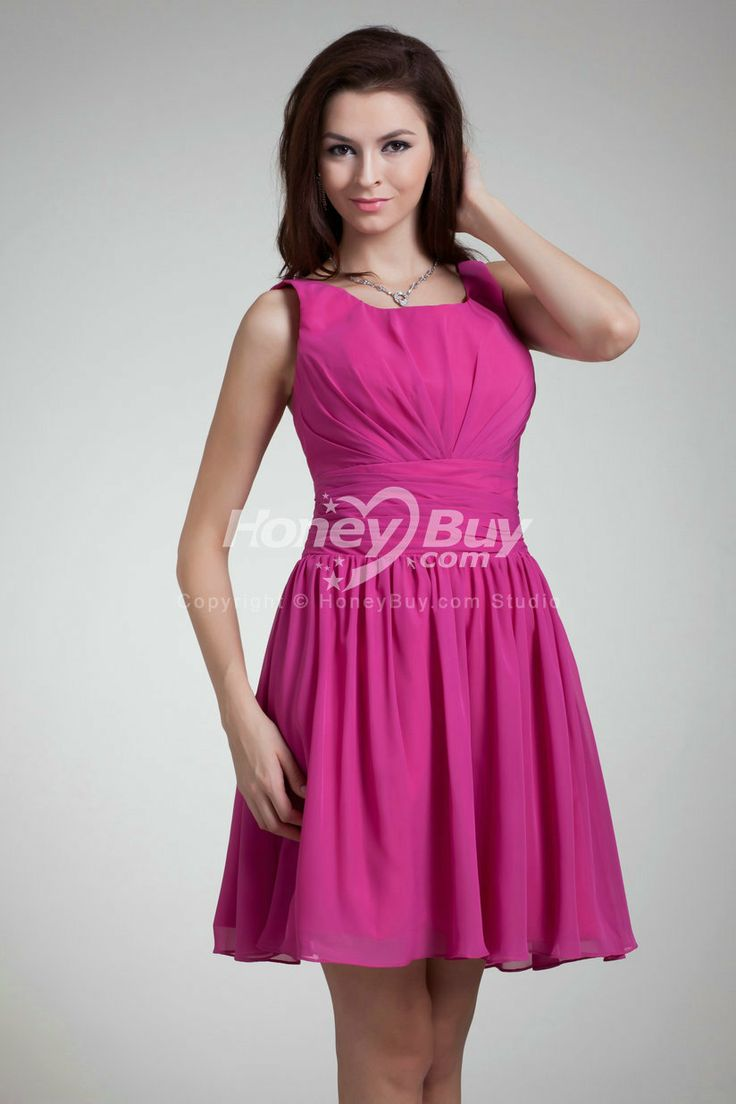 64 best pretty pink images on pinterest bridesmaids brides and fuschia bridesmaid dresses fits perfectly square neckline chiffon fuschia wedding guests dresses ombrellifo Gallery