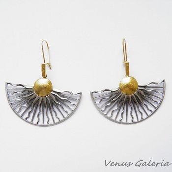 Kolczyki srebrne - Promienie słońca#kolczyki srebrne#silver#earings#venus galeria#www.galeria.sklep.pl#promienie#słońce#