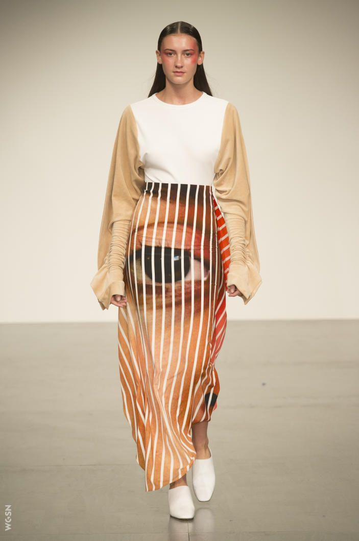 Stripes from London Fashion Week S/S18