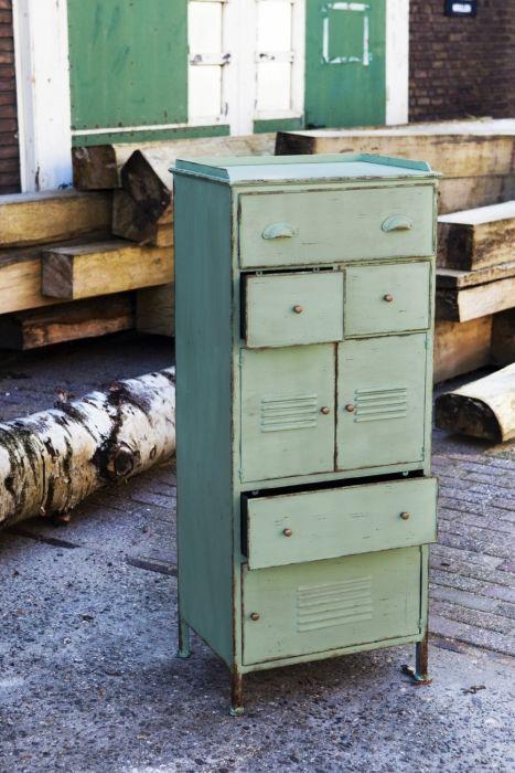Industriele kast, instrumentenkast. Zacht groen | Rootsmann
