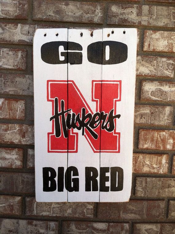 Nebraska Cornhuskers Go Big Red wall art by KristaLianeDesigns, $40.00