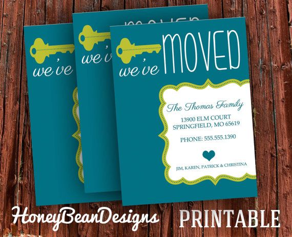 PRINTABLE We've Moved New Address Announcement Card on Etsy, $9.00